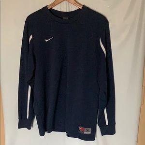 Nike Team XL Long Sleeve T-Shirt Blue White Stripe